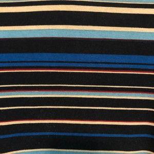 LuLaRoe Tops - LuLaRoe Randy 2XL Multi Stripe Body  Solid sleeves